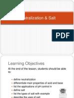 Neutralization & Salt