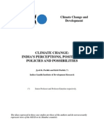 CLIMATE CHANGE India's Perceptions, Positions, Possibilities And Policies