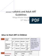ART 2010 Pediatric and Adult Guidelines Summary