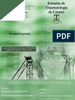 Programa I Jornadas Artroscopia Cadera Linares (Jaén) Mayo 2012 Dr Bernáldez