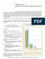 Peace Corps Host Country Impact Study Summary  |  Burkina Faso
