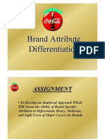 Regression Analysis Positioning Brand Attribute Differentiation