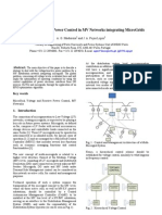 Voltage and Reactive Power Control in MV Networks Integrating Micro Grids