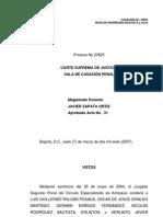 07-03-07 Sentencia de La Csj Sobre La Condena Contra Cpula Del Eln en El Caso Machuca