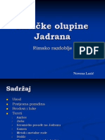 Antičke olupine Jadrana seminar