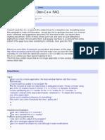 Aditsu's Unofficial Dev-C++ FAQ
