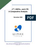 Info Comparacion Wimax Hspa Lte