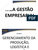 Aula 01 GERENCIAMENTO DA PRODUÇÃO, LOGÍSTICA E OPERAÇÕES