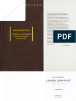 Camera Luminoasa Roland Barthes
