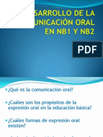 DESARROLLO DE LA COMUNICACIÓN ORAL EN NB1 Y NB2(2)