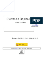 Boletin Semanal Empleo Publico. Semana Del 29.05.2012 Al 04.06