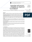 Financial Deepening and Poverty Reduction in Zambia-An Empirical Investigation