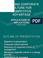 Leveraging Corporate Culture for Competitive Advantage - Internal Communications