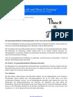 Quantenphysik Und Theta-X