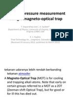 Vacuum-Pressure Measurement Using a Magneto-optical Trap
