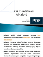 Reaksi Identifikasi Alkaloid