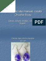 Bijuterii Lucrate Manual, Creatii Onusha Bijou