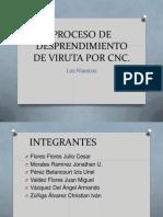 Proceso de Desprendimiento de Viruta Por Cnc