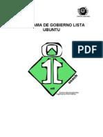 Discurso General Lista Ubuntu