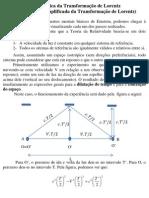 A Física da Transformação de Lorentz