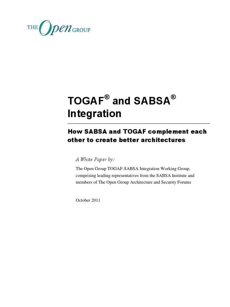 Sabsa togaf integration w117 risk management risk malvernweather Images