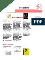 vreeland fyi issue 1