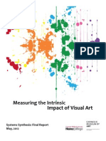 Measuring the Intrinsic Impact of Visual Art