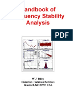 Handbook Of Freq Stability Analysis