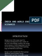 India and World Energy Scenario