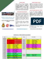 Torneo benéfico 2012 Información y Horarios