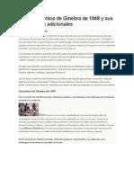 Los Convenios de Ginebra de 1949 y Sus Protocolos Adicionales Para Penal