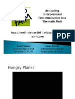 ACTFL Hunger Fr. 1 Final Activating Interpersonal ACTFL