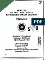 Explosives Sazfety Seminar 1992 AD A261116