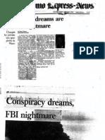 Conspiracy Dreams Are an FBI Nightmare - Dick Reavis - San Antonio Express