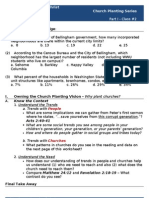 Church Planting - Worksheet #2