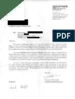 Attorney Timothy B. McCormack Settlement Demand Letter (Short Version)