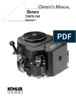 Kohler CV17 - CV26 Owners Manual