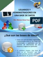 Usuarios y Administradores en BD