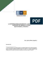 La Internacionalización de la Educación Superior en América Latina