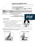 FICHA Nº 1 TEXTOS LITERARIOS Y NO LITERARIOS