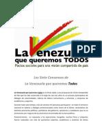 Los 7 Consensos de La Venezuela que Queremos Todos