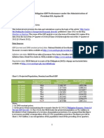 Technical Note on Philippine GDP Performance