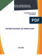 SISTEMA DE ORIENTACIÓN PARA LA EDUCACIÓN UNIVERSITARIA II