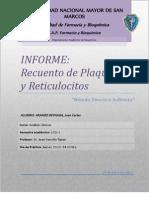 2.Informe de Analisis I- Recuento de Plaquetas