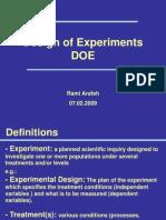 A Design of Experiments