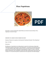 Traditional Itilian Pizza Guidlines as Regulated by the EEC