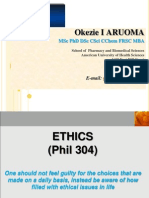 Ethics Week 1 Dr Aruoma Lecture
