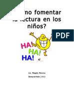 84612251 Como Fomentar La Lectura en Los Ninos