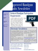 Handgun Clubs Newsletter January 2012