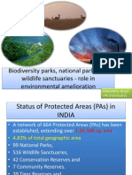 Biodiversity Parks, National Parks and Wildlife Sanctuaries - Role in Environmental Amelioration